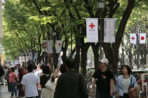 Street decoration on May 8