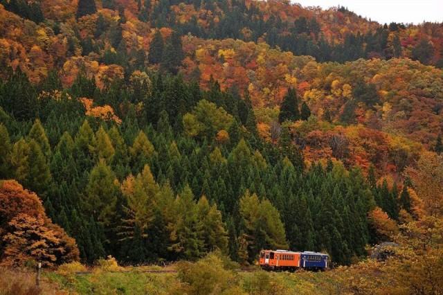 train ride in Akita +